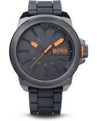 BOSS Orange - '1513004' | Black Silicon Strap Watch - Lyst