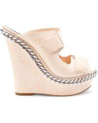 Giambattista Valli Chain Trim Wedge Sandals - Lyst