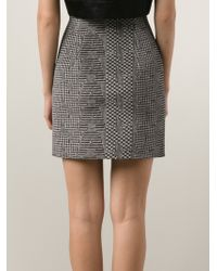 Alexander Wang High Waist Mini Skirt - Lyst
