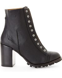 Report Signature Black Zip Lug Boots - Lyst