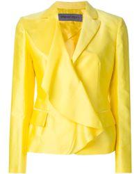 Emanuel Ungaro Fold-Over Cotton and Silk-Blend Blazer - Lyst