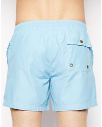 Jack Wills - Plain Swim Shorts Sky Blue - Lyst