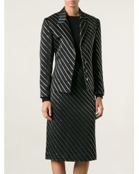 Jean Louis Scherrer Vintage Diagonal Striped Skirt Suit - Lyst