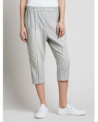 Free People Bowside Skinny Harem Pant - Lyst