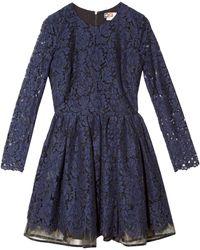 MSGM Lace Overlay Dress - Lyst