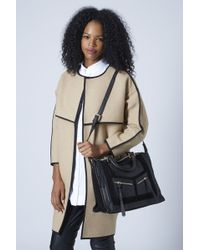 TOPSHOP - Womens Smart Suede and Leather Holdall - Black - Lyst