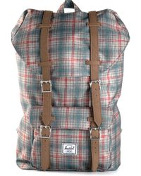 Herschel Supply Co. Gray Plaid Backpack - Lyst