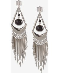 French Connection Fringe Statement Earrings black - Lyst