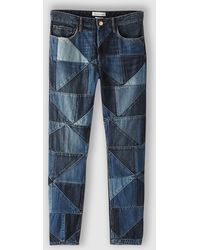 Etoile Isabel Marant Dillon Patched Jeans - Lyst