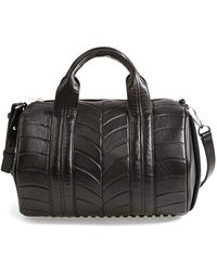 Alexander Wang 'Rocco - Injected Silver' Lambskin Leather Satchel - Lyst
