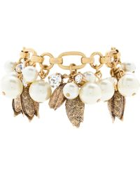 J.Crew Pearls and Petals Bracelet - Lyst