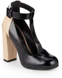 Jill Stuart Freja Twotone Leather Tstrap Pumps - Lyst