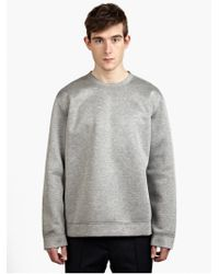 Valentino Men'S Grey Lightweight Neoprene Sweatshirt - Lyst