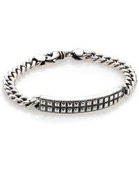 King Baby Studio   Sterling Silver Pyramid Stud Id Chain Bracelet   Lyst