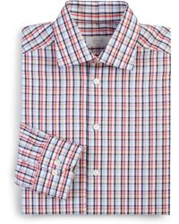 Eton of Sweden Slim-Fit Plaid Dress Shirt - Lyst