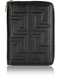 Versace Embossed Leather Tablet Case - Lyst