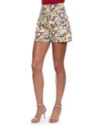 Carolina Herrera - High-waisted Parasol-print Shorts - Lyst