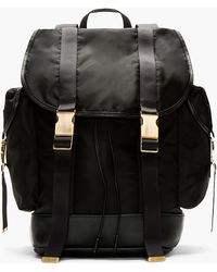 Neil Barrett Black and Gold Rucksack - Lyst