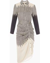 Veronica Beard | Clara Ruched Shirt Dress | Lyst
