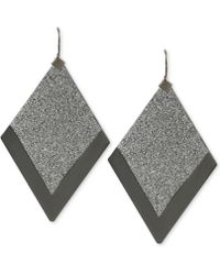 Steve Madden Twotone Glitter Diamondshaped Drop Earrings - Lyst