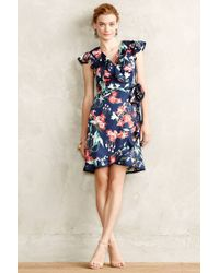 Karen Walker Hibiscus Wrap Dress - Lyst