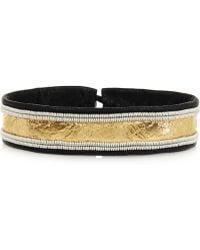 Maria Rudman - Embroidered Metallic Leather Bracelet - Lyst