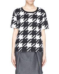 Sandro Tissia Houndstooth Print Cotton Jersey T-shirt - Lyst