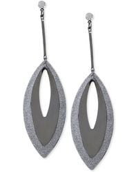 Steve Madden Twotone Cutout Glitter Drop Earrings - Lyst