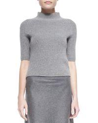 Theory Jodi Ribbed Knit Mockneck Sweater - Lyst
