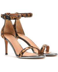 Givenchy Nadia Leather And Calf-Hair Sandals - Lyst
