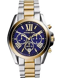 Michael Kors Bradshaw Two-Tone Watch blue - Lyst
