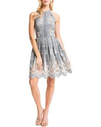 Cynthia Steffe Judith Sleeveless Embroidered Cotton Dress - Lyst