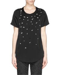 3.1 Phillip Lim Strass Silk Crepe A-Line Top - Lyst