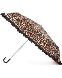 Forever 21 - Ruffled Leopard Travel Umbrella - Lyst