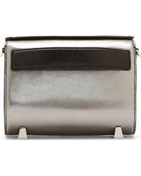 Alexander Wang Silver Leather Distressed Chastity Sling Bag - Lyst