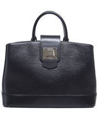 Louis Vuitton Pre-Owned Black Epi Leather Mirabeau Gm Bag - Lyst