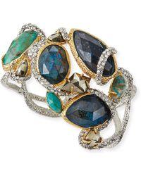 Alexis Bittar Asymmetric Crystal Vine Hinge Bracelet - Lyst