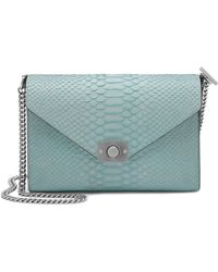 Mulberry Delphie Silky Snake-Leather Shoulder Bag blue - Lyst