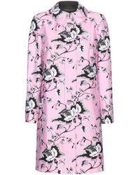 Diane von Furstenberg Printed Wool And Silk-Blend Coat - Lyst