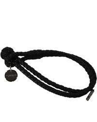 Bottega Veneta Bijoux Bracelet Two Wires Woven Knot Open - Lyst