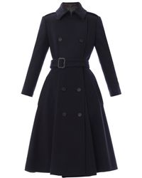 Burberry Prorsum Wool Trench Coat - Lyst