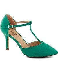ModCloth Get It Got It Gosee Heel in Green - Lyst