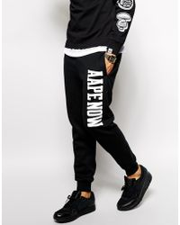 Aape - By A Bathing Ape Joggers With Now Print - Lyst