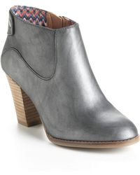 Lucky Brand Ubiza Leather Ankle Boots - Lyst
