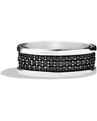 David Yurman Streamline Threerow Band Ring with Black Diamonds - Lyst