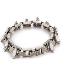 Dannijo Bette Bracelet - Silver/Crystal - Lyst