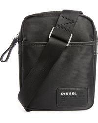 DIESEL | Black Fuzzy Shoulder Bag | Lyst
