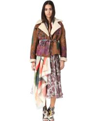 Burberry Prorsum Hand Painted Shearling Jacket - Lyst