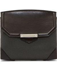 Alexander Wang Black Neoprene and Leather Marion Prisma Shoulder Bag - Lyst