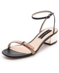 Steven Linda Low Heel Sandals - Lyst